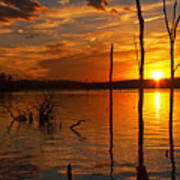 sunset @ Reservoir Poster