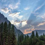 Sunset 1 Yosemite  Poster