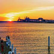 Sunset Across The Chesapeake Poster