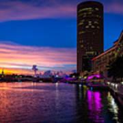 Sunset Along The Riverwalk Poster