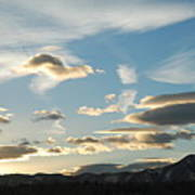Sunset And Iridescent Cloud Poster