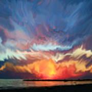 Sunset Art Landscape Poster