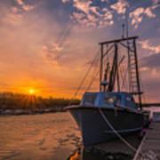 Sunset At Alviso Poster
