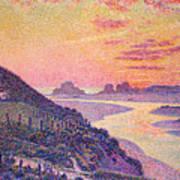 Sunset At Ambleteuse Pas-de-calais Poster