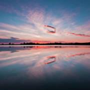 Sunset at Anglezarke Reservoir #3, Rivington, Lancashire, North West England Poster