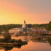 Sunset At Boothbay Harbor Poster