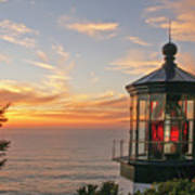 Sunset At Cape Meares Poster