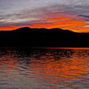 Sunset At Carter Lake Co Poster by James Steele