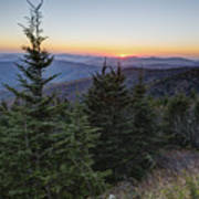 Sunset At Clingmans Dome Poster