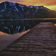 Sunset At Fallen Leaf Lake Poster by Jacek Joniec
