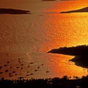 Sunset At Great Cruz On St. John Poster