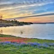 Sunset At Lake Buchanan Poster