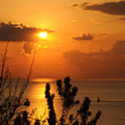 Sunset At Lake Huron Poster
