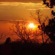Sunset At Lake Michigan Poster