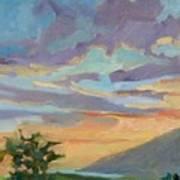 Sunset At Makawao Poster