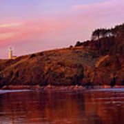 Sunset At North Head Lighthouse Poster