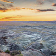 Sunset At Painted Desert Poster