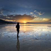 Sunset At Phuket Island Poster