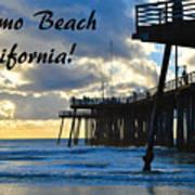 Sunset At Pismo Beach California Poster