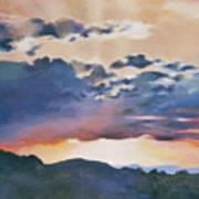 Sunset At Quialigo Poster