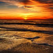 Sunset At Saint Petersburg Beach Poster
