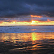 Sunset At Salt Creek Poster