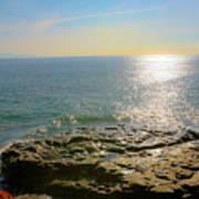 Sunset At Sea Santa Cruz Ca Poster
