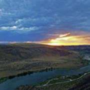 Sunset At Snake River Canyon 1 Poster