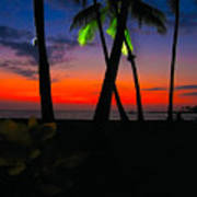 Sunset At The Big Island Of Hawaii Poster
