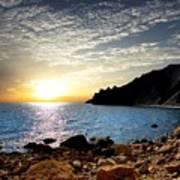 Sunset At The Black Sea Coast. Crimea Poster