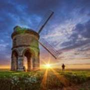 Sunset At The Windmill Poster