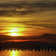 Sunset At Thessaloniki Poster