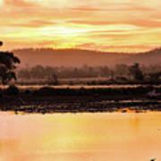 Sunset At Triabunna Tasmania Poster