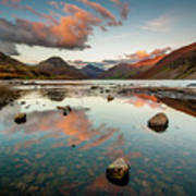 Sunset at Wast Water #1, Wasdale, Lake District, England Poster