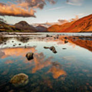 Sunset At Wast Water #2, Wasdale, Lake District, England Poster