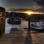 Sunset At West Bay Harbour Poster