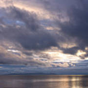 Sunset At White Rock Poster