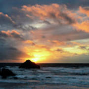 Sunset Bandon By The Sea Poster