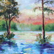 Sunset Bayou Poster