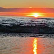 Sunset Beach Poster by Douglas Barnard