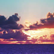 Sunset Behind Clouds Poster
