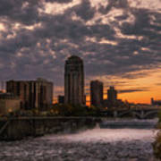 Sunset Bridge Poster