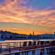 Sunset Budapest Poster