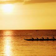 Sunset Canoe Poster