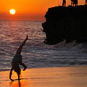 Sunset Cartwheel Poster