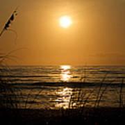 Sunset On Barefoot Beach Poster