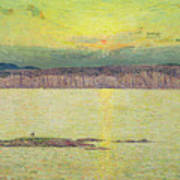 Sunset Poster by Childe Hassam