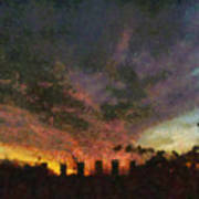 Sunset Cloud Impression Poster