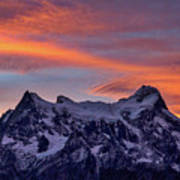 Sunset Clouds At Cerro Paine Grande #3 - Chile Poster