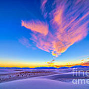 Sunset Colors Over White Sands National Poster